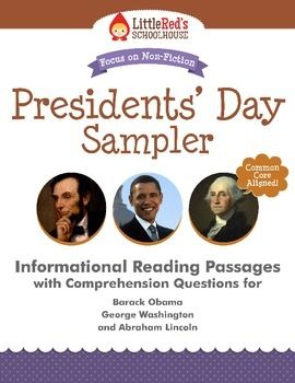 Free - Presidents' Day Informational Reading Passages Freebie Sampler