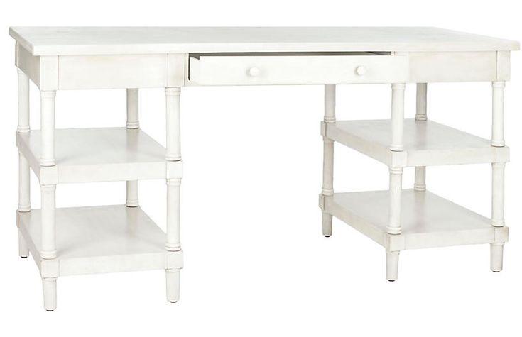 Nobles Desk - Whitewash