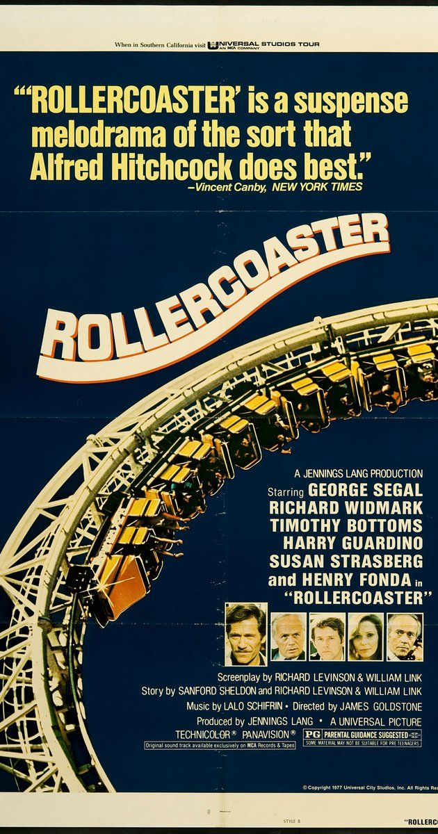 Directed by James Goldstone.  With George Segal, Timothy Bottoms, Richard Widmark, Henry Fonda. A blackmailer threatens to sabotage roller-coasters at various American amusement parks if he isn't paid a huge ransom.