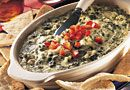 Hot Artichoke & Spinach Dip - The Pampered Chef recipe I have used for YEARS! Making for Turkey day this year.