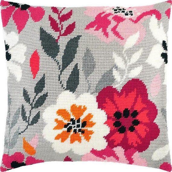 new modern cross stitch pillow kit