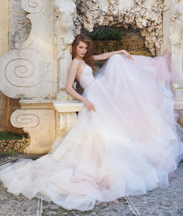 Color on White 20 Beautiful White Wedding Dresses with a Touch of Color!