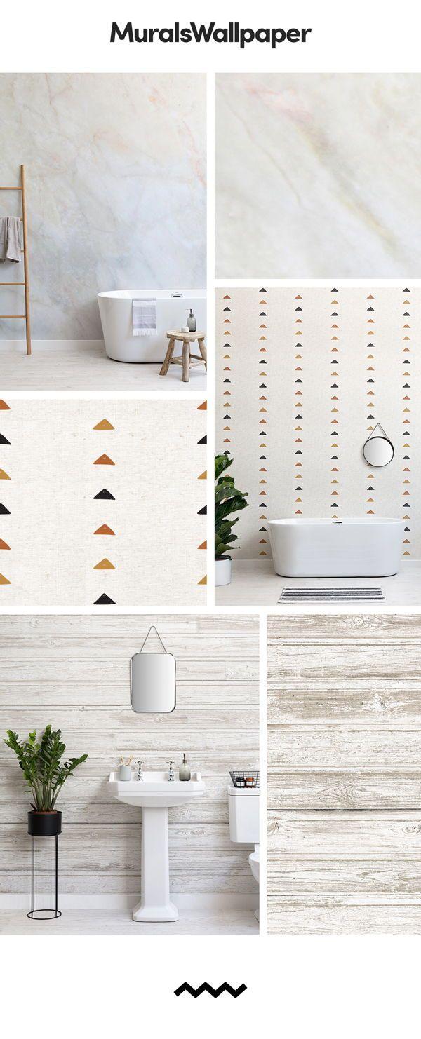 Simple Bathroom Spaces Are Best Created With Simple White Bathroom Wallpapers A White Wallpaper Can Transform A White Wallpaper Simple Bathroom Bathroom Decor