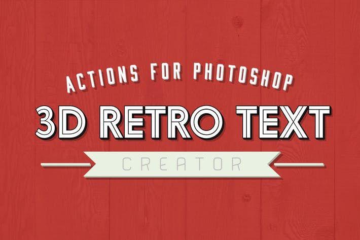 3D Retro Text Creator #badge #branding