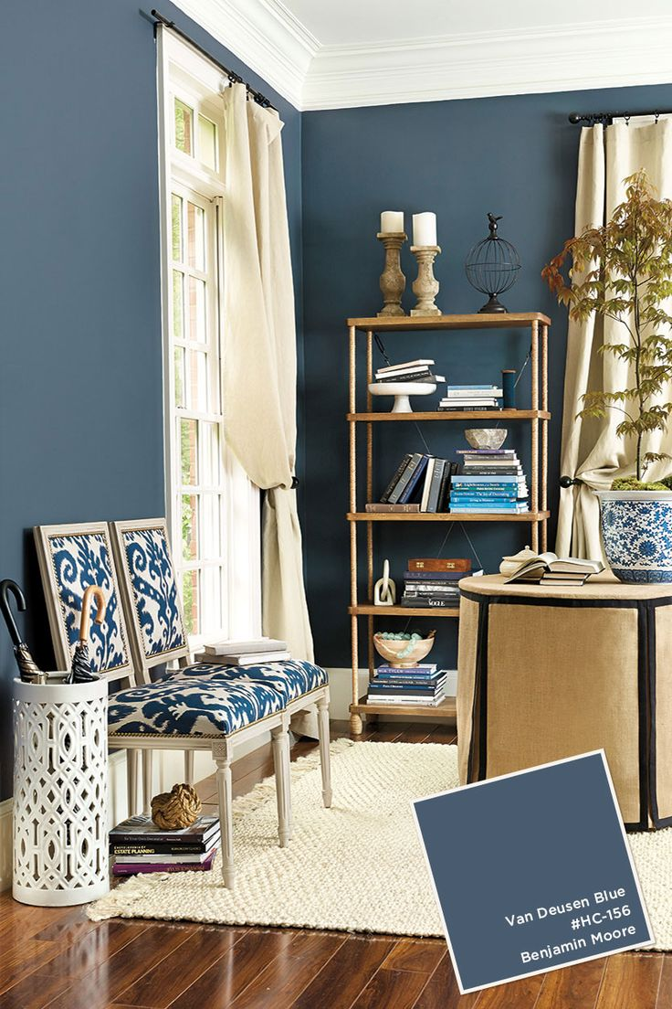 Van Deusen Blue Benjamin Moore -  August-September 2015 Paint Colors