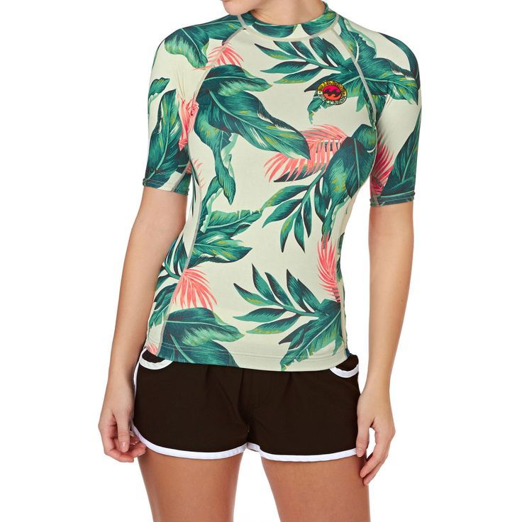 Billabong Womens Surf Capsule Short Sleeve Rash Vest - Multi