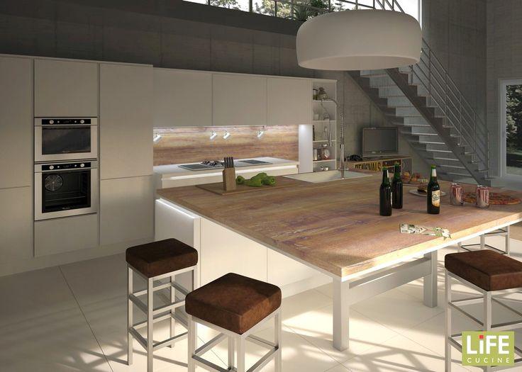 Cucina Isola Centrale - Modelos De Casas - Justrigs.com