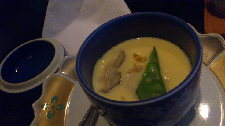 Steamed egg custard, Sansui Japanese Restaurant, Auckland CBD, Auckland, New Zealand