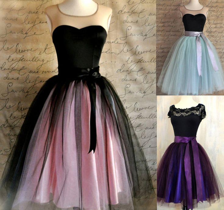 Black And Tiffany Blue Aqua Tutu Skirt For Women Ballet