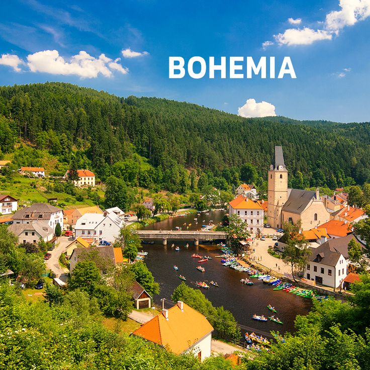 The town of Rožmberk nad Vltavou in Bohemia, Czechia #bohemia #czechia