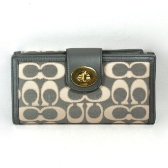 !@Best Buy Coach Penelope Outline Signature Checkbook Wallet (Grey/Gold) #47350        .Check Price >> http://loanoneday.com/sale/landingpage.php?asin=B008OSDL38
