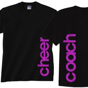 NEW!!!    Side Cheer Coach T-shirt by Cheerleading Company