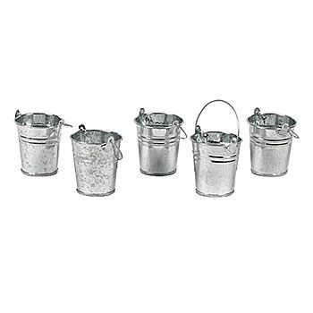 These metal buckets can be put to great use at your next big event.