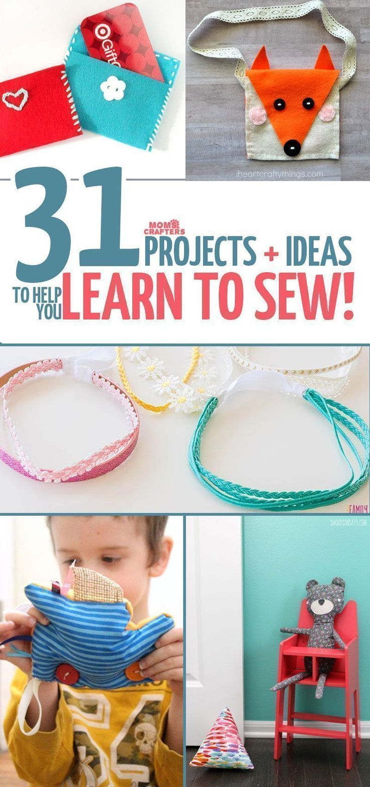 these easy sewing projects for kids, teens, tweens, and adults are perfect to learn to sew on! They incorporate basic hand sewing and machine sewing skills and include free sewing patterns for beginners. #sewingforbeginnerslearning #sewingforbeginnersprojects #sewingprojectsforkids #sewingprojectsforbeginners #sewingmachines