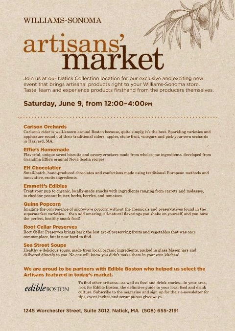 Artisan's Market at Williams Somona! Check it out!