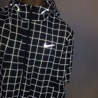jacket coat mens windbreaker light nike sweater grid black white stripes fluo menswear nike squares black and white bright lines trippy nike jacket…