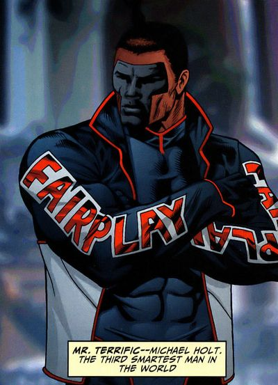 Mr. Terrific -- 3rd smartest man in the DCU, after Ray Palmer and Lex Luthor.