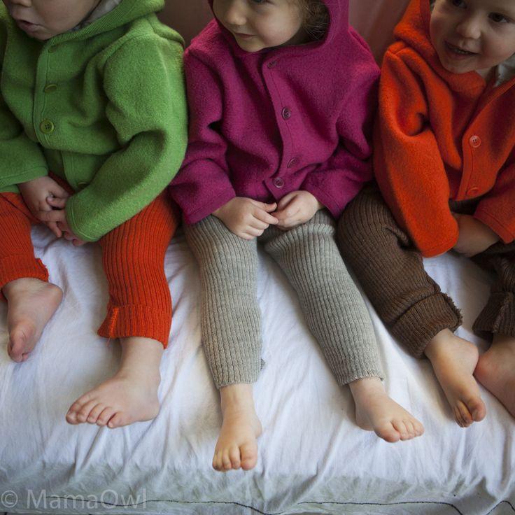 Disana wool rib leggings/trousers red, natural, green, navy, grey, berry, orange