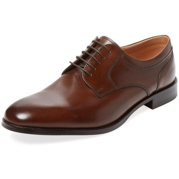 Loake Lifestyle Loake Lifestyle Men's Lifestyle Wycombe Derby Shoe -... (510 PEN) ❤ liked on Polyvore featuring men's fashion, men's shoes, men's dress shoes and dark brown