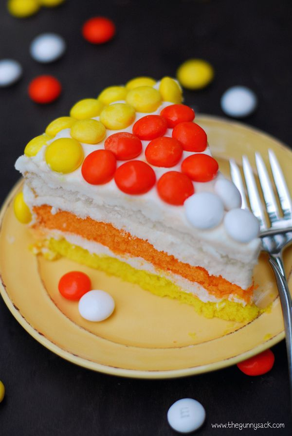 Candy Corn Layer Cake | Recipe | Cake slices, Sacks and Corn cakes