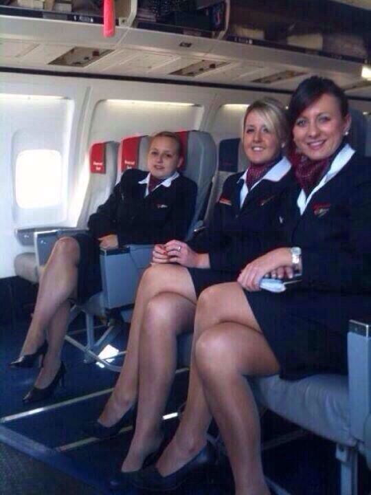 asain air stewardess sexy legs