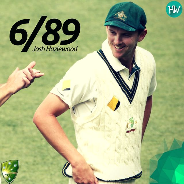 Australia had some success with Josh Hazlewood picking up 6 wickets to rout the South Africans! #AUSvSA #AUS #SA #cricket