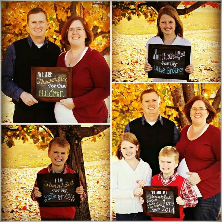 Adorable Thanksgiving baby announcement!