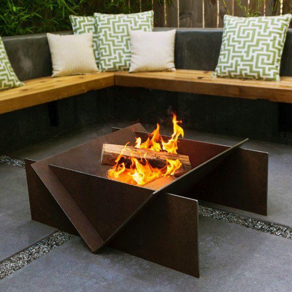Top 60 besten Metal Fire Pit Ideen – Stahl Backyard Designs