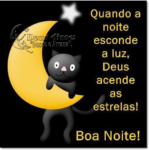 Quando a noite esconde a luz, Deus acende as estrelas! Boa Noite!