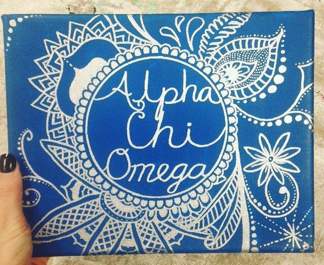 A personal favorite from my Etsy shop https://www.etsy.com/listing/463213076/sorority-canvas-paintings