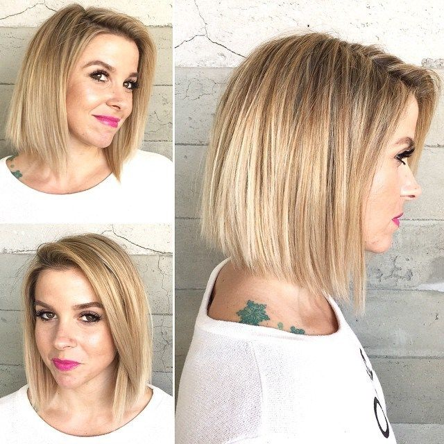 Chic Bronde Bob for Straight Hair