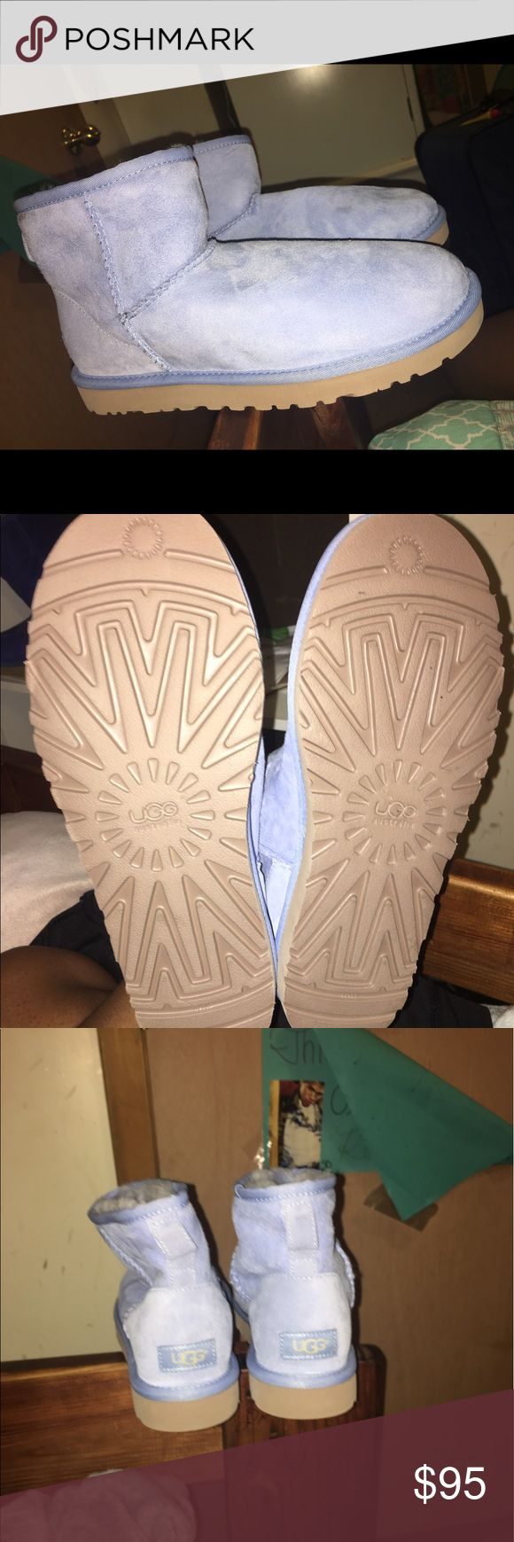 Ugg boots Light blue uggs. Never worn. Lean a little because the inserts were not in them but they are not worn down at all. Willing to send more pics and negotiate price! UGG Shoes Winter & Rain Boots