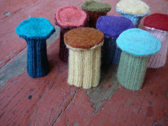 Chair Socks  Wool  Floor Protectors by sewoiseau on Etsy, $10.00
