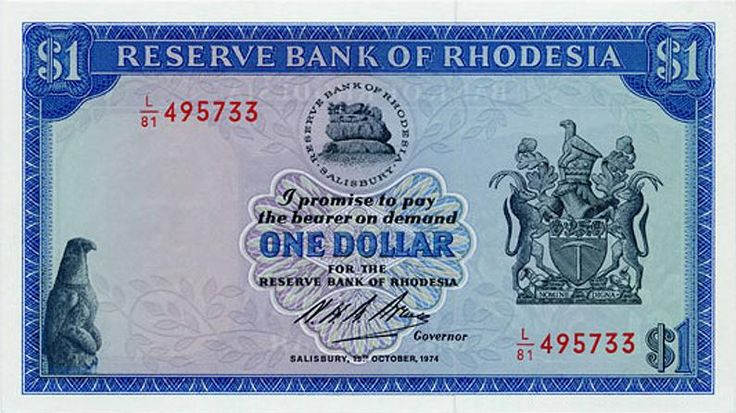 The Rhodesian dollar was introduced on February 17, 1970, less than a month before the declaration of the Republic of Rhodesia. On March 2, 1970. It replaced the Rhodesian pound at a rate of 2 dollars to 1 pound. The Rhodesian Dollar was used up to the very end of Rhodesia in 1980, when it was replaced by the Zimbabwean dollar at par.