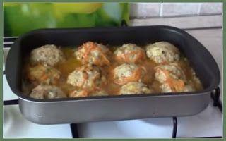 Домашние рецепты: Видео рецепт - Как приготовить Тефтели с рисом оче...