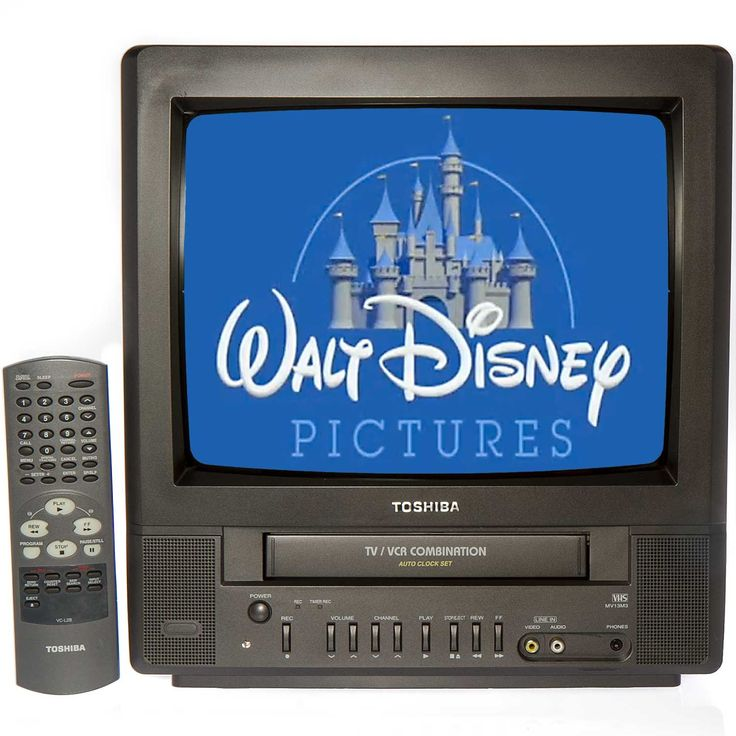 "Toshiba MV13M3 13"" TV/VCR Combo + 12 Disney VHS Movies"