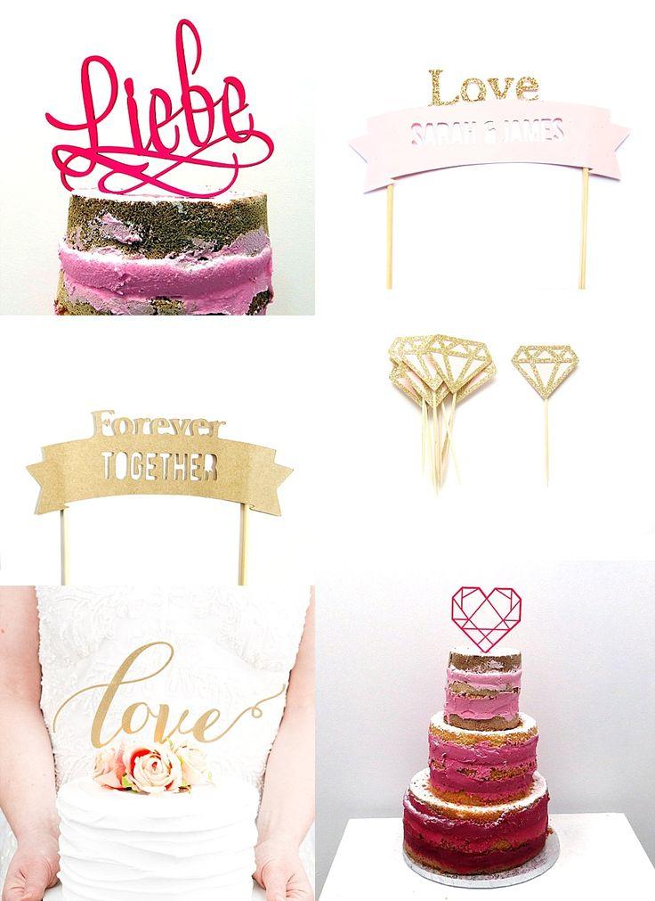 #caketopper DIY Naked Cake: Wie ihr eine Hochzeitstorte selbst machen könnt | Hochzeitsblog - The Little Wedding Corner