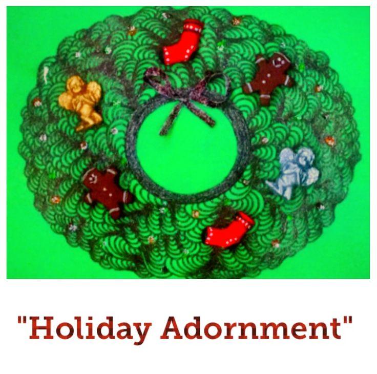 """Holiday Adornment"" #BlankGreetingCard by #MelodyGermain #AlbertaCanada"