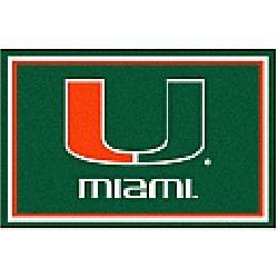 Fanmats Miami FL Hurricanes rug 5x8