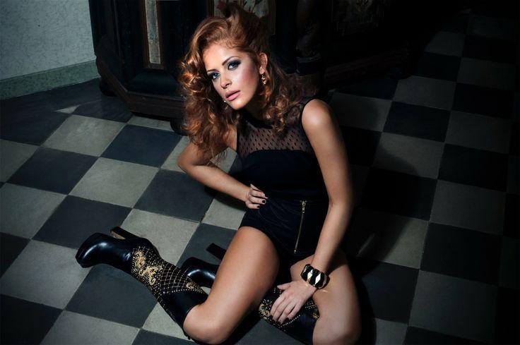 The Boot #MichelaRigucciLuxury made in black calfskin! - Michela Rigucci Luxury Campaign Fall/Winter 2013-2014 -