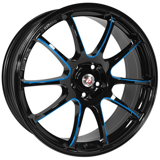 18 CALIBRE FRICTION BLACK CANDY BLUE BALL POLISHED alloy wheels for 5 studs wheel fitment in 8x18 rim size