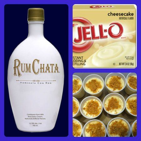 RumChata cheesecake pudding shots. These need to be made ASAP