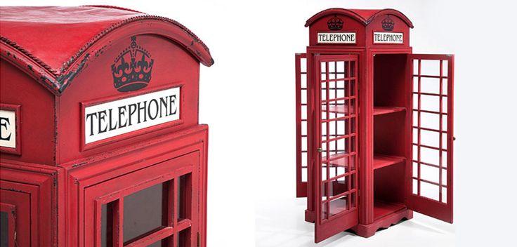 """Витрина """"Телефонная будка"""" London telephone box"""