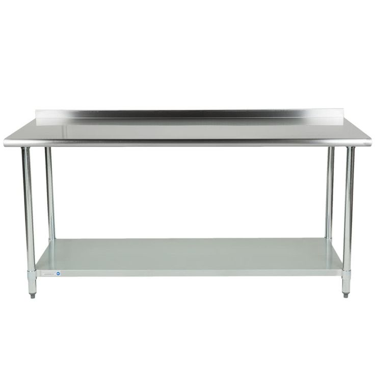 "If you are looking for a work table that will support the needs of your business without breaking the bank, look no further than this 18 gauge economy 30"" x 72"" 430 stainless steel work table with an undershelf! This table is made to perform the basic tasks of a work table like offering you a place to prepare fruits and vegetables, open cans, mix ingredients, and plate meals but without the initial cost of a heavier gauge table.<br><br> Ideal for areas of your business t..."