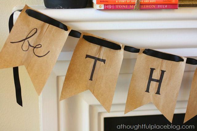 Be Thankful {DIY Thanksgiving Banner} | Fall Decor ...