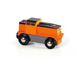 Een brandnieuwe BRIO batterij-aangedreven locomotief, voor urenlang speelplezier dankzij de handmatig te bedienen aa/uit knop. Deze felgekleurde oranje locomotief rijdt je BRIO wagons en aanhangers overal naartoe waar je maar wilt. Druk op de pijl op de voorkant van de locomotief om hem te laten rijden of stoppen. rijden. Inclusief ingebouwde start- en stopfunctie.  http://www.brio-trein.nl/brio-treinen-goederen-locomotief.html