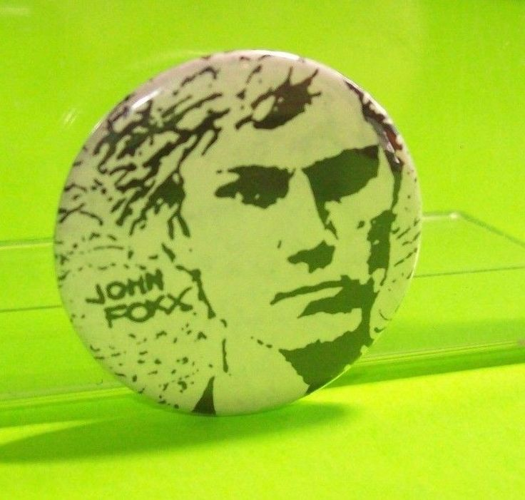 Vintage Original Badge John Foxx 1980s New Wave Electronic SynthPop Electro Pin