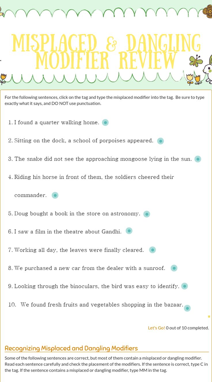 Worksheets Misplaced Modifier Worksheet 8 best misplaced modifiers images on pinterest teaching grammar me blended worksheet misplaced