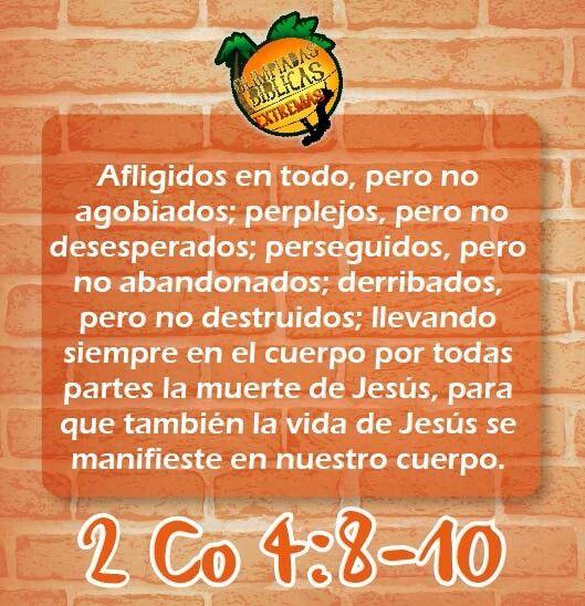 2 Corintios 4.8-10