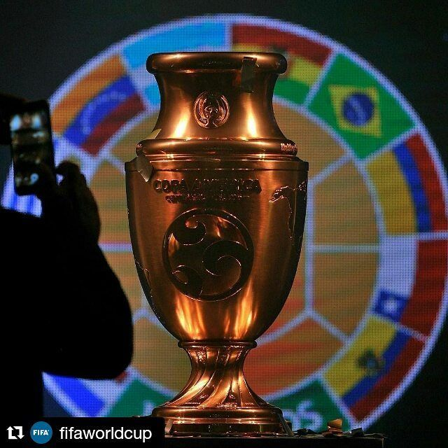 #Repost @fifaworldcup with @repostapp ・・・ On Thursday evening, the all-new 2016 Copa America Centenario trophy was unveiled. The trophy will be awarded to the winner of the Copa America Centenario taking place this summer from June 3 to 26. The new hardware is part of a Copa America tournament that is defying convention this year in honor of its 100th anniversary -- the competition is being hosted outside of South America for the first time and will be spread across 10 cities in the United…